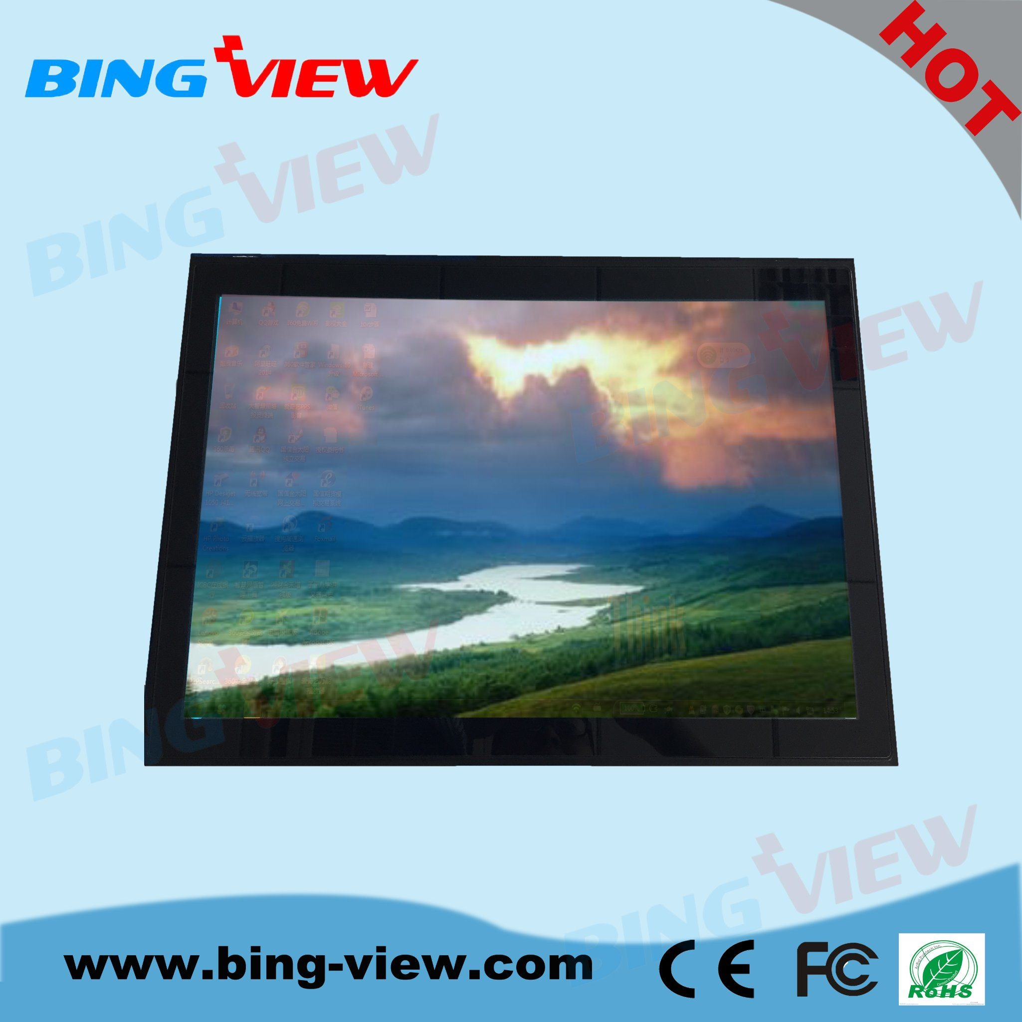 "18.5"" Bezel Free Kiosk P-Cap Touch Display Monitor"