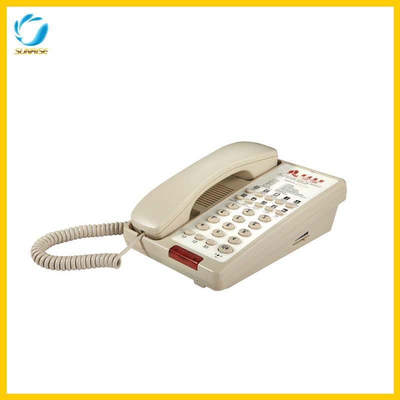 Hotel Guestroom Telephone with CPU Control