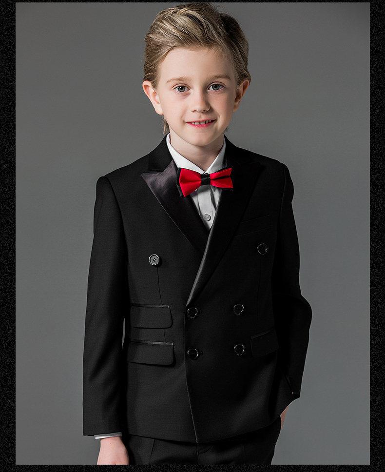 Black Party Suit Kids Wedding Blazer for Boys