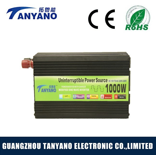 12V 220V DC to AC 1000W Power Inverter with Battery Charger