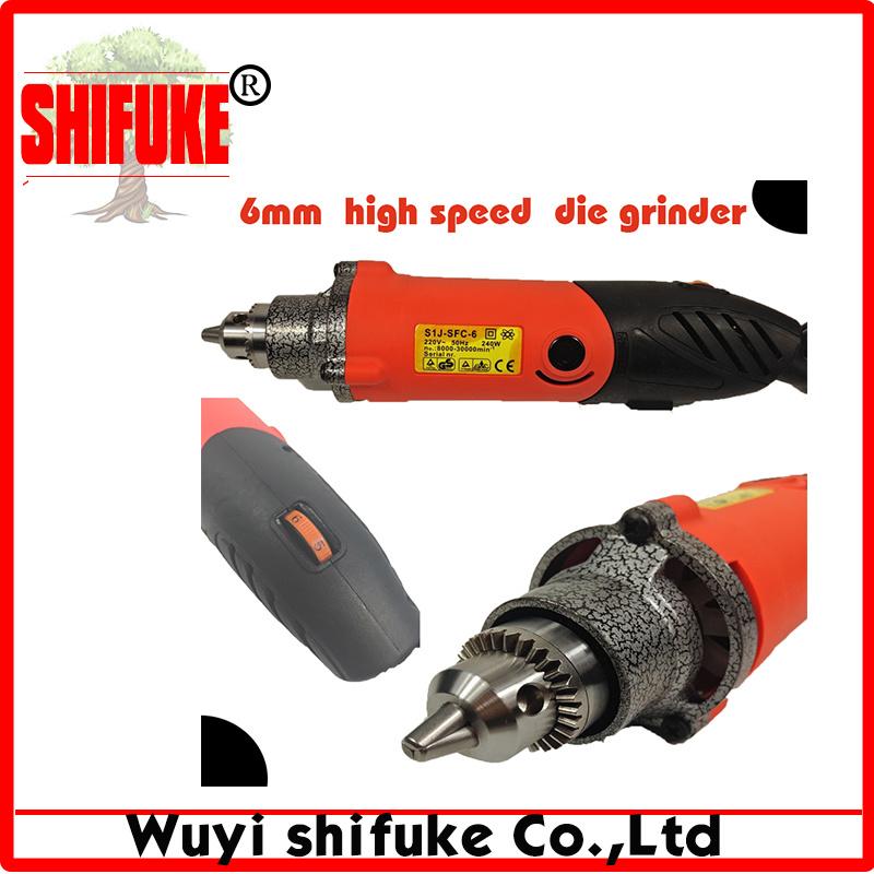 6mm Chuck High Variable Speed 240W Electric Die Grinder
