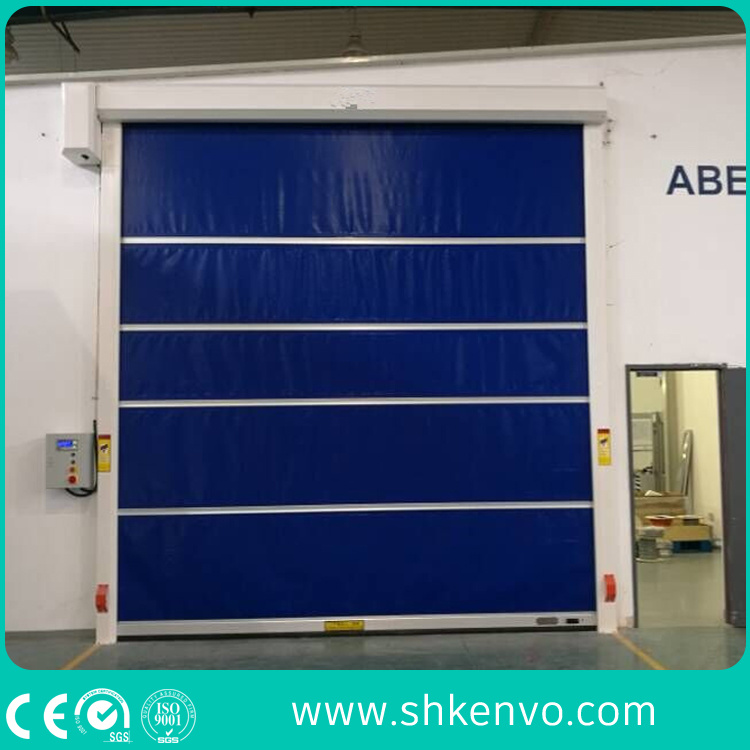 PVC Fabric High Speed Fast Rapid Action Roller Shutter Traffic Doors