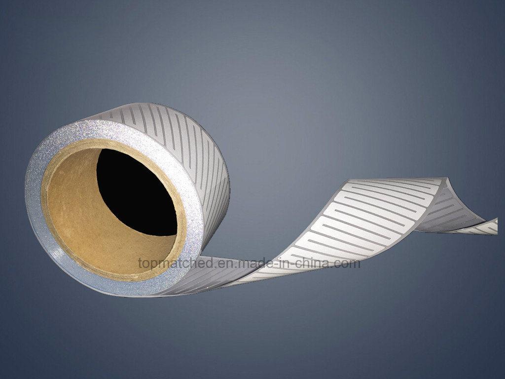 Sliver Heat Transfer Diagonal Stripes Segmented Reflective Tape Iron on Safety Clothes