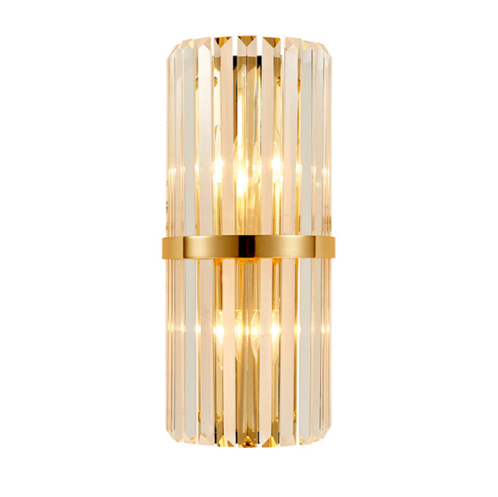 Luxury Post Modern Style Hotel Crystal Sconce Wall Lamp for Living Room