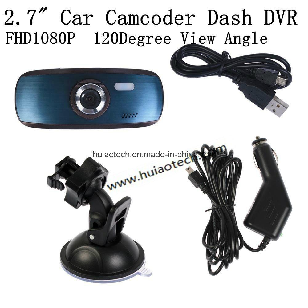 Hot Sale 2.7inch Dash Camera Digital Video Recorder Car DVR with WDR, Night Vision, G-Sensor, Super Capacitor, H. 264, 5.0mega Car Camera DVR-2712c