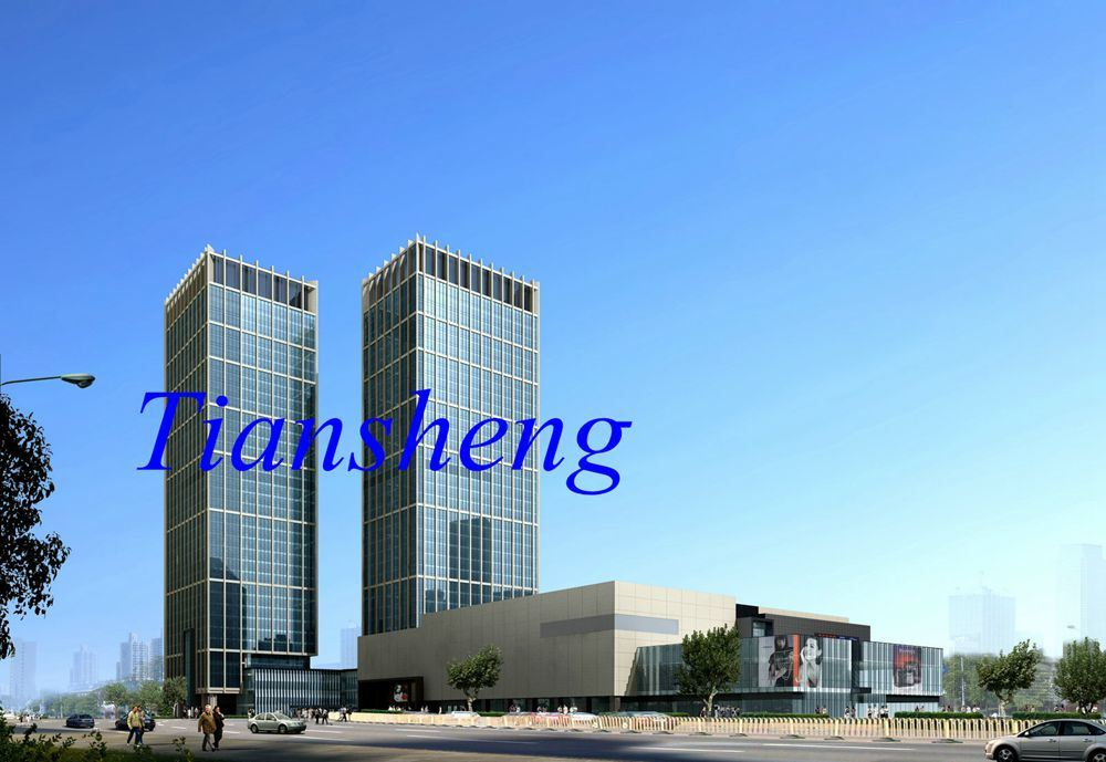 Glass Curtain Walls for Building, Office, Shop Front/Aluminum Curtain Wall (offer installation if necessary)