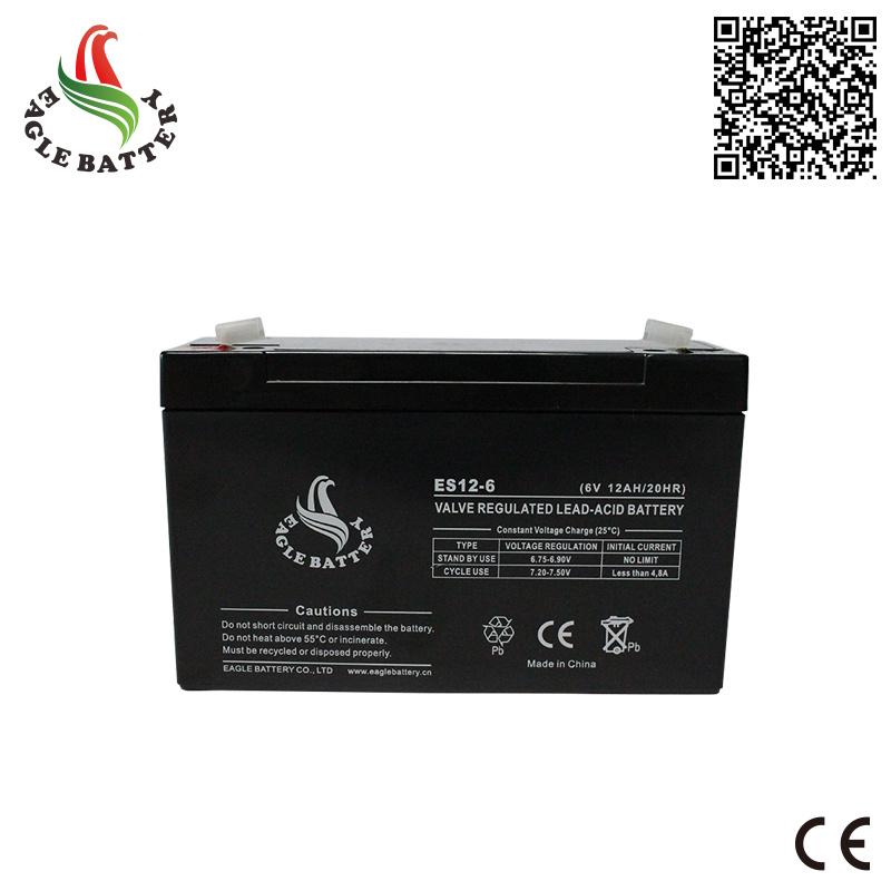6V 12ah AGM Sealed Lead Acid Battery for UPS
