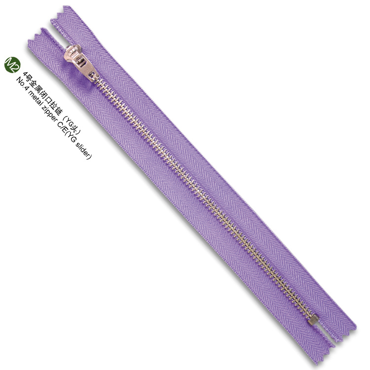 #4yg Metal Zipper Close End