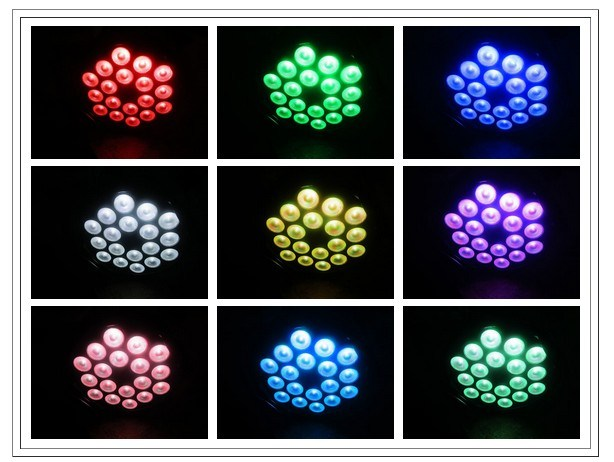 6in1 Rgbawuv 18PCS Aluminum Alloy PAR LED Lighting