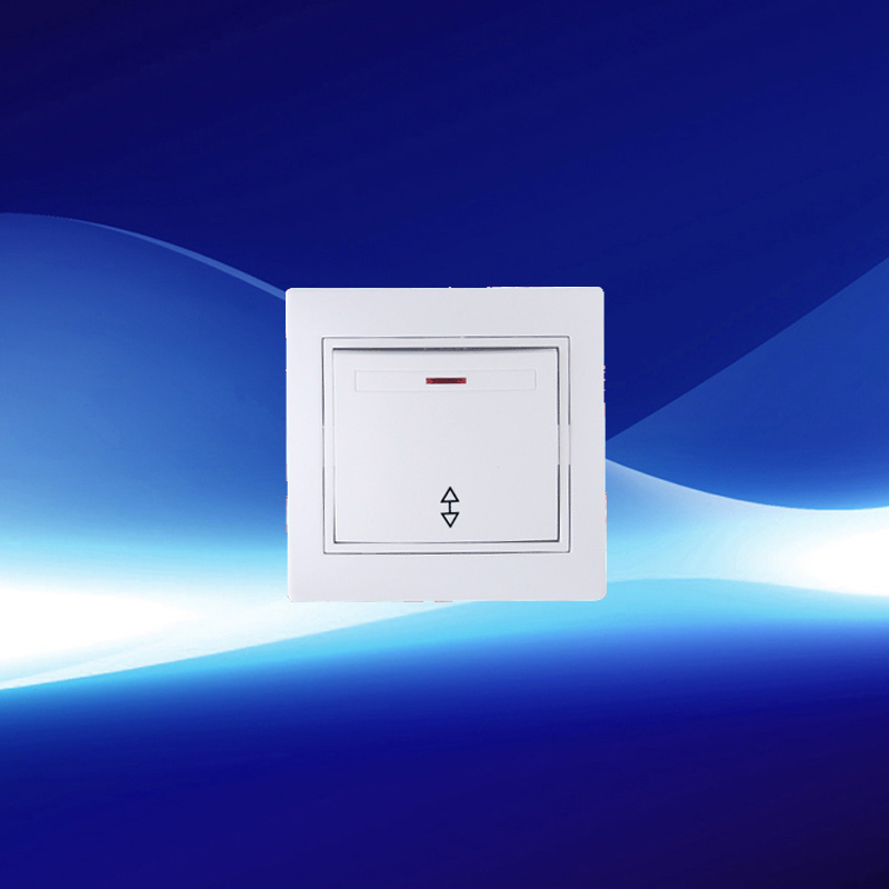 Two Gang One Way Wall Switch with Indicator
