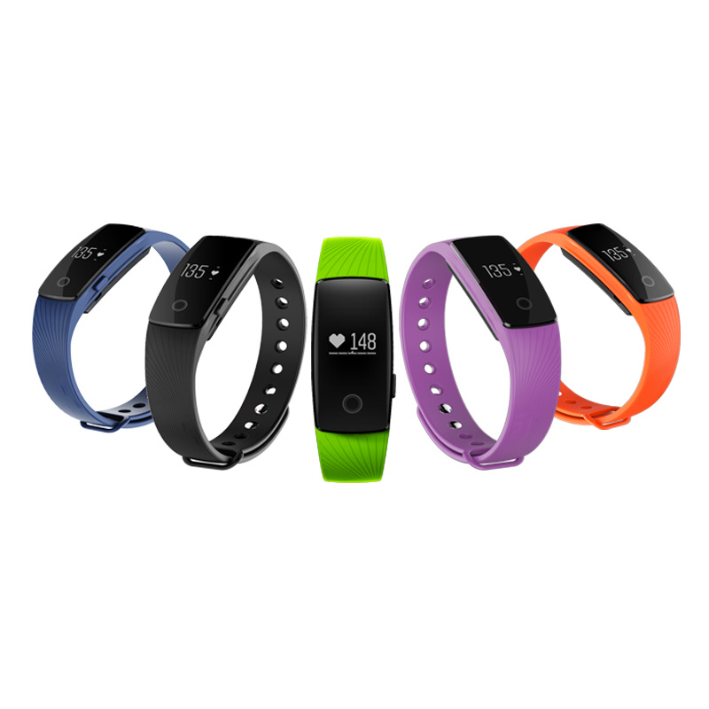 2016 High Quality Bluetooth Heart Rate Fitness Sleep Tracker Health Bracelet Smart Watch ID107