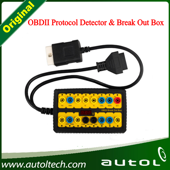 Original Obdii Protocol Detector & Break out Box &Newest OBD II Break out Box with High Quality and Lowest Price