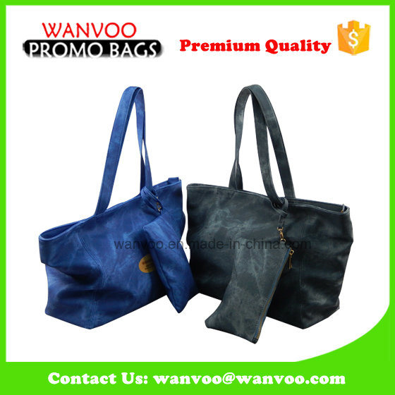 Fashion Promotion Tote Lady Women Leather PU Handbag