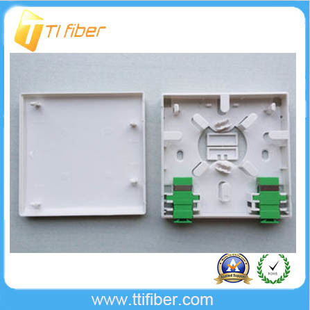 FTTH 2 Port Fiber Faceplate Mounting /86 Socket Patch Panel