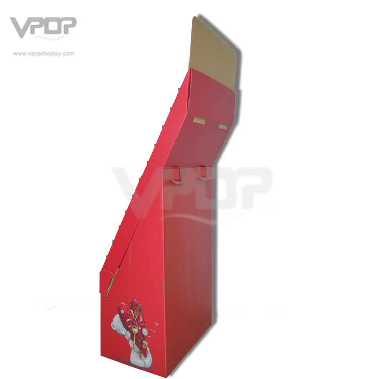 Valentine′s Day Cardboard Floor Display with Tiers for Greeting Cards