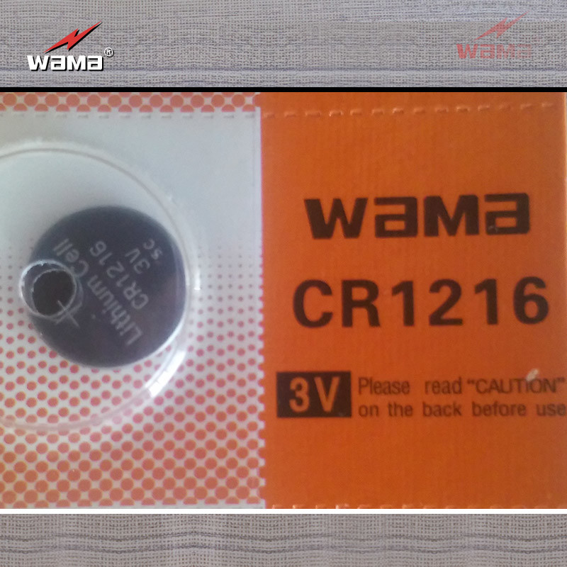 Wholesale 3V Cr1216 Lithium Button Cell Battery