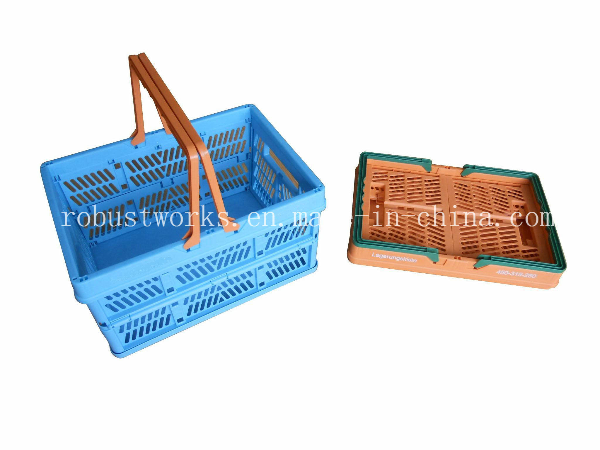 Large Size Folding Plastic Basket (FB003)