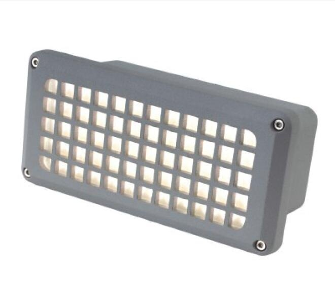 3W 300lm Aluminum LED Recessed Wall Lamp
