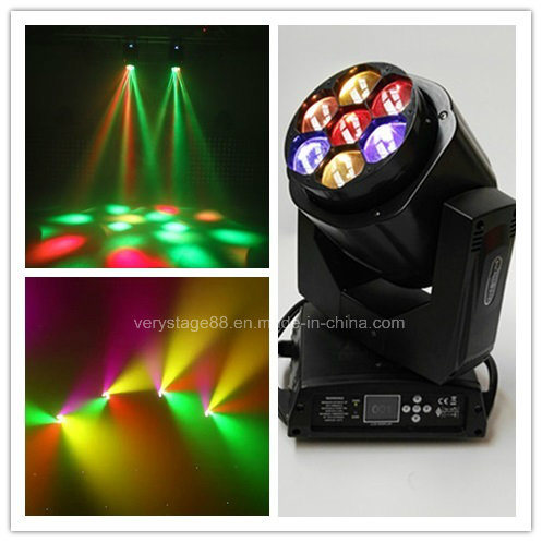 Clay Parky Mini K10 7*15W RGBW LED Bee Eye Zoom Beam Moving Head Light