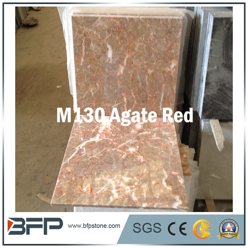 Popular China Agate Red Decoration 10mm Thick Marble Tile for Polished Wall or Floor Covering