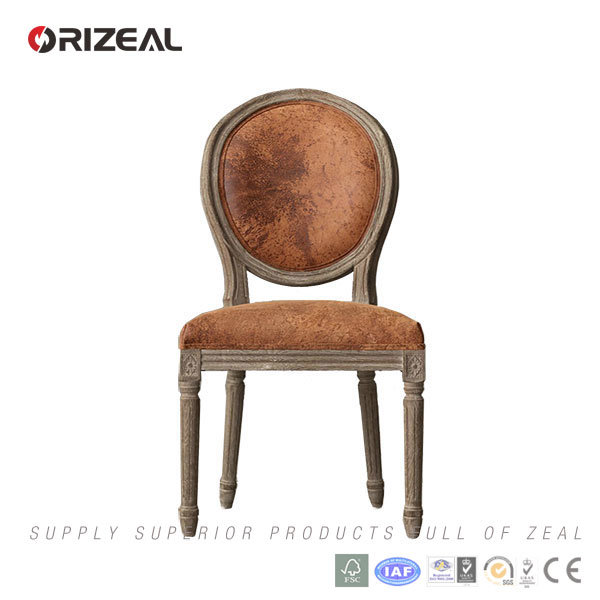 Orizeal Antique French Fabric Upholstered Dining Chair (OZ-DC018)