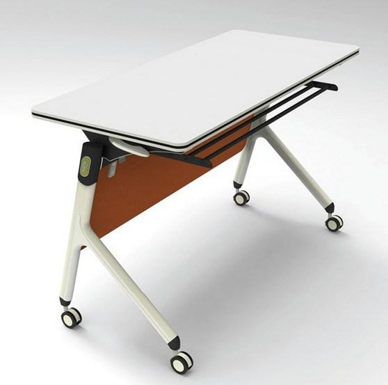 China Manufacture White Color Melamine Folding Desk (HX-NCD404)
