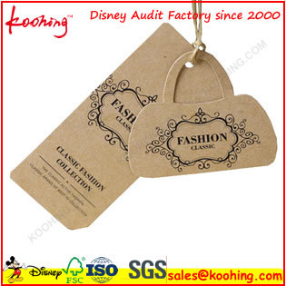 Top Factory Printing PP Paper Plastic Label Hang Tag