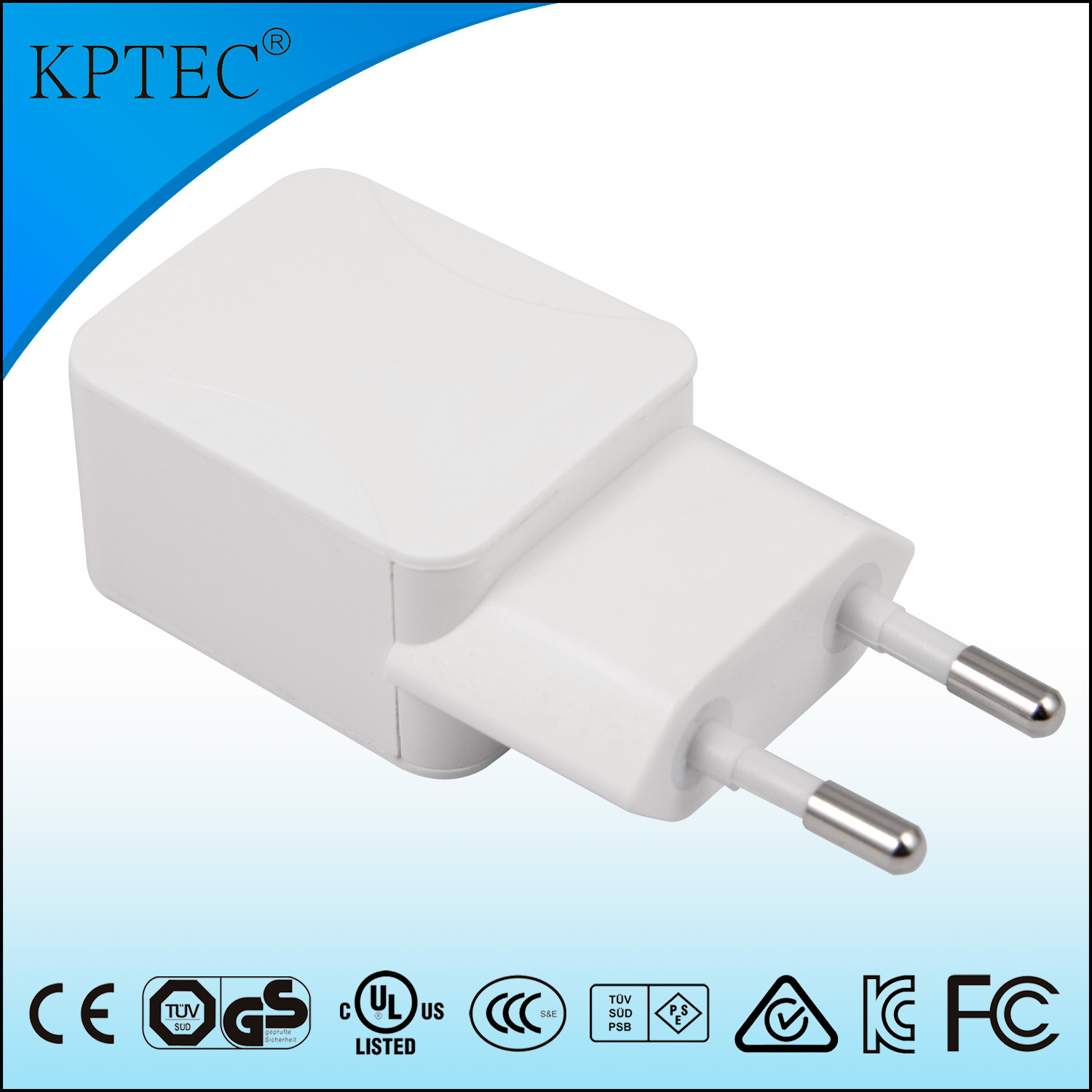 5V 1A AC/DC Adapter with Ce and RoHS Reach EU Plug