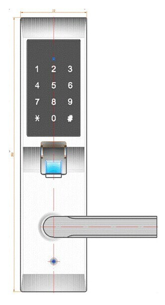 Password Scanner Outdoor Fingerprint Digital Door Lock
