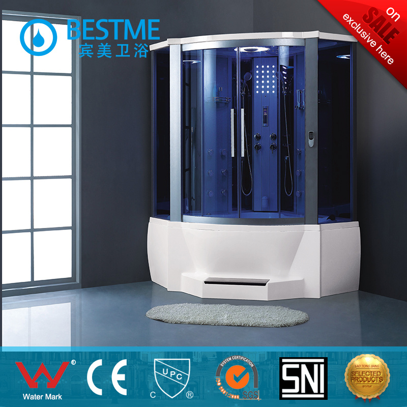 China Factory Back Glass Steam Shower Room