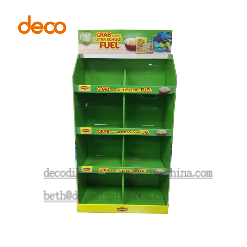 Store Display Cardboard Paper Display Stand for Supermarket