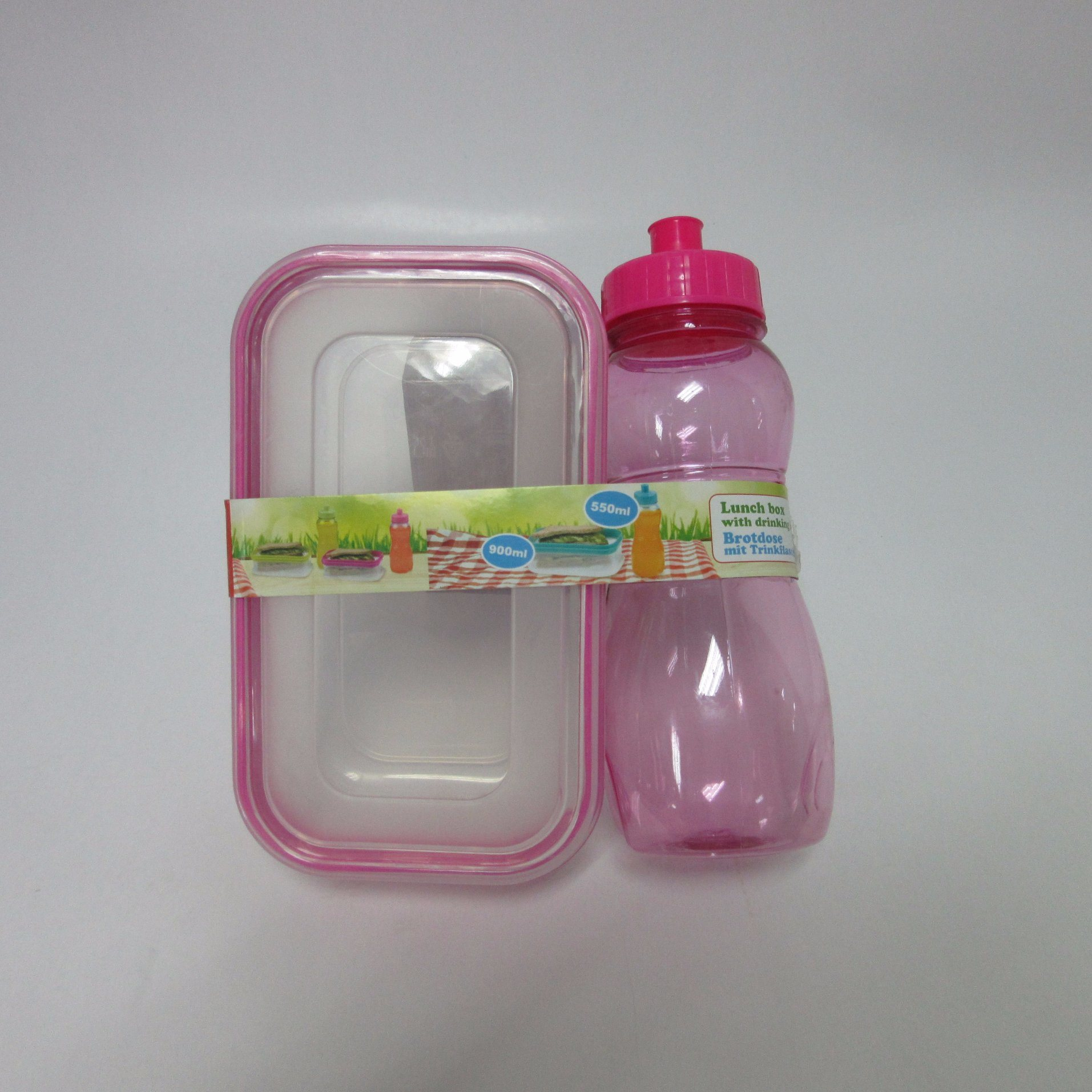 900ml Lunch Box with 550ml Drinking Bottle