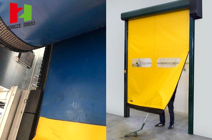 Self Repair Mechanical High Speed Rapid Rolling Door (Hz-FC0124)