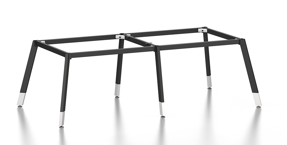 Black Customized Metal Steel Office Conference Table Frame with Ht69-3