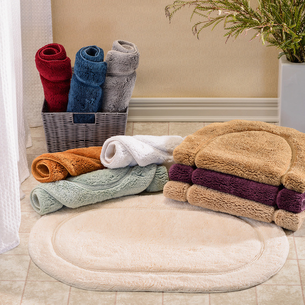 Luxury Soft Touch Shaggy Microfiber Bathroom Non-Slip Bath Shower Rugs