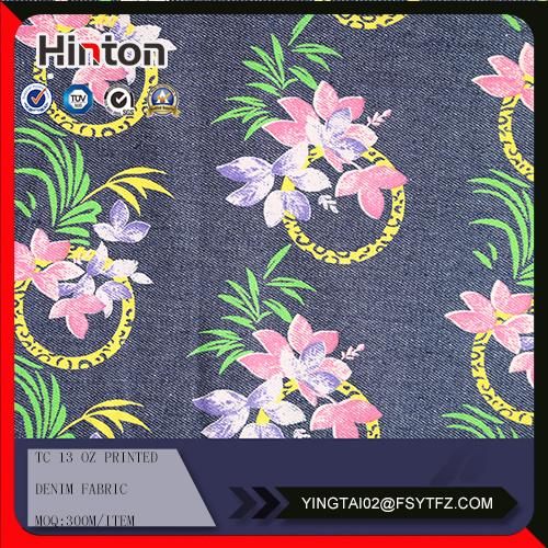 Tc Printed Denim Textile on Sale