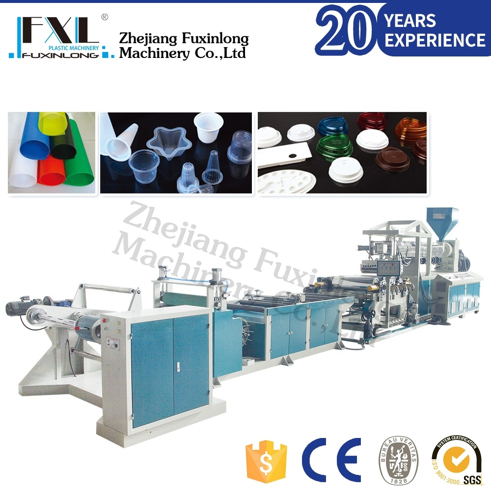 Mono-Layer PP/PS Plastic Sheet Extrusion Machinery