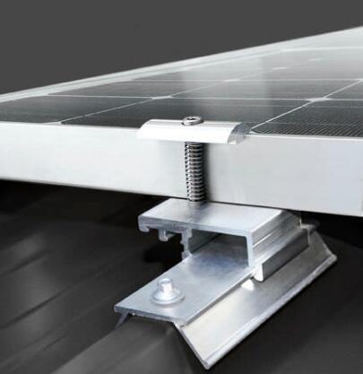 Aluminum Solar Brackets for Corrugated Metallic Roof