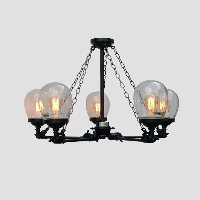 Retro Hanging Iron Pendant Light for Villa