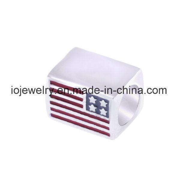 Customzied Flag Pattern Enamel Flag Bead