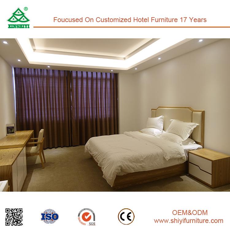 Hotel Bedroom Furniture Ash Wood 2 Drawer Nightstand