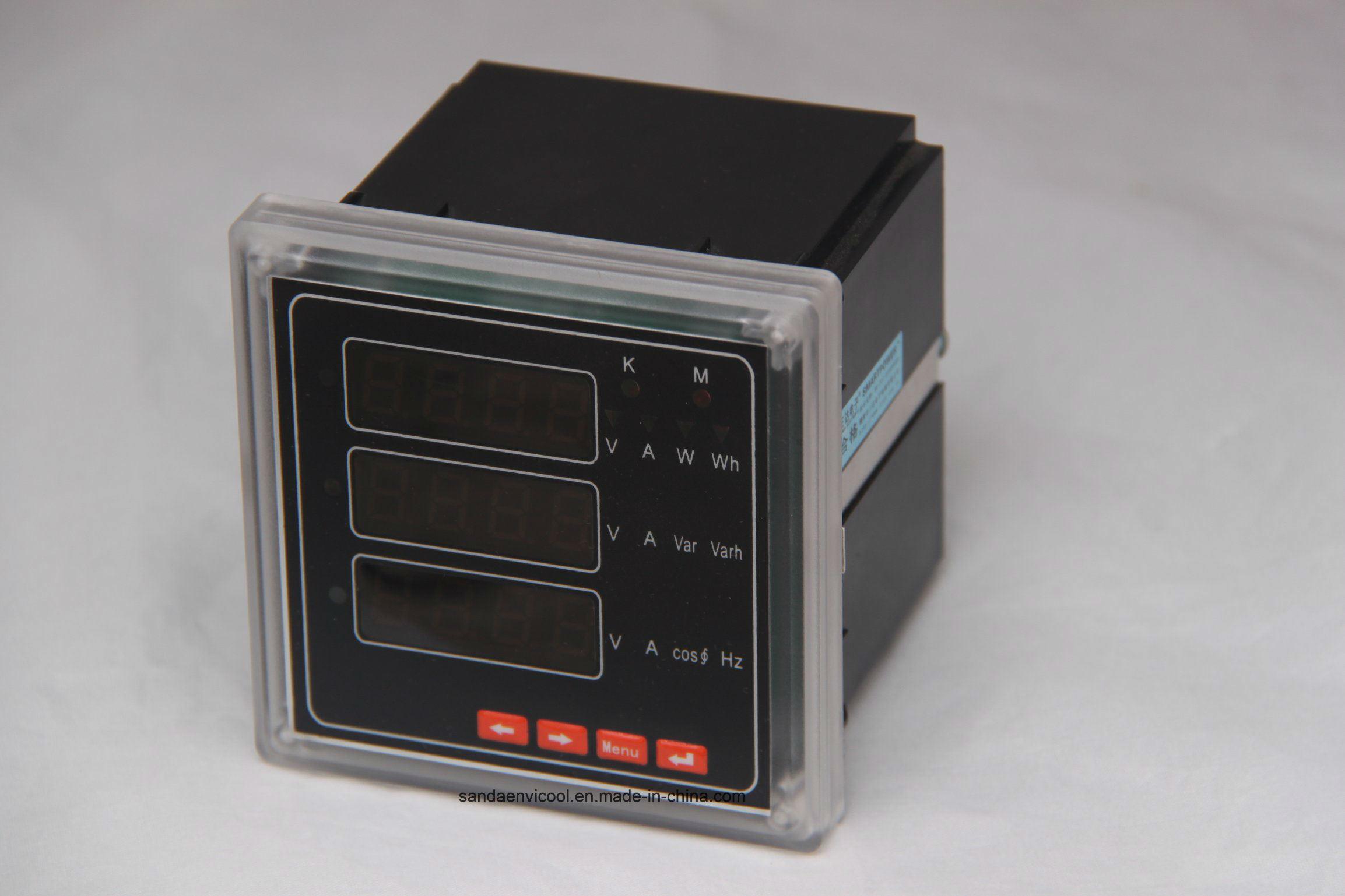 Digital Three Phase Multifunction LED Display Electric Meter RS485