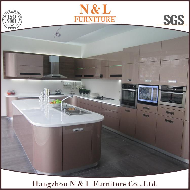 N&L Modern High Gloss Kitchen Furniture MDF Lacquer Kitchen Cabinet