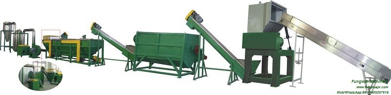 Plastic Film Crushing Washing Drying Line