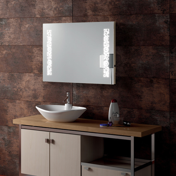 Hotel Electric Lighted Frameless Mirror UL LED Backlit Mirror