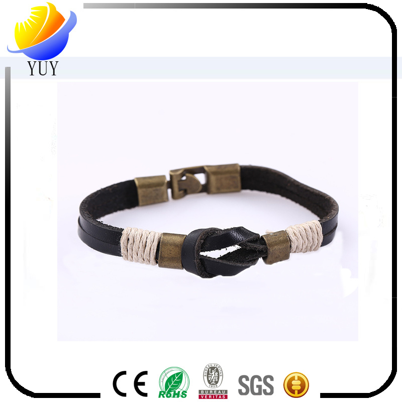 Hot Sell National Punk PU Leather Bracelet for Promotional Gift