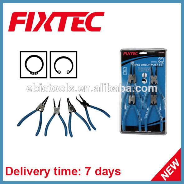 Fixtec Hand Tool Hardware 4PCS Circlip Plier Set CRV Professional Cutting Plier Kit