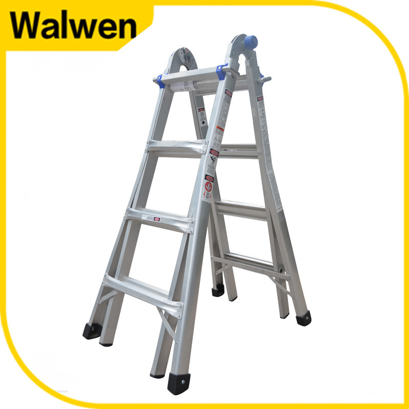 High Stength Multi-Purpose Folding Aluminum Scaffolding Ladder
