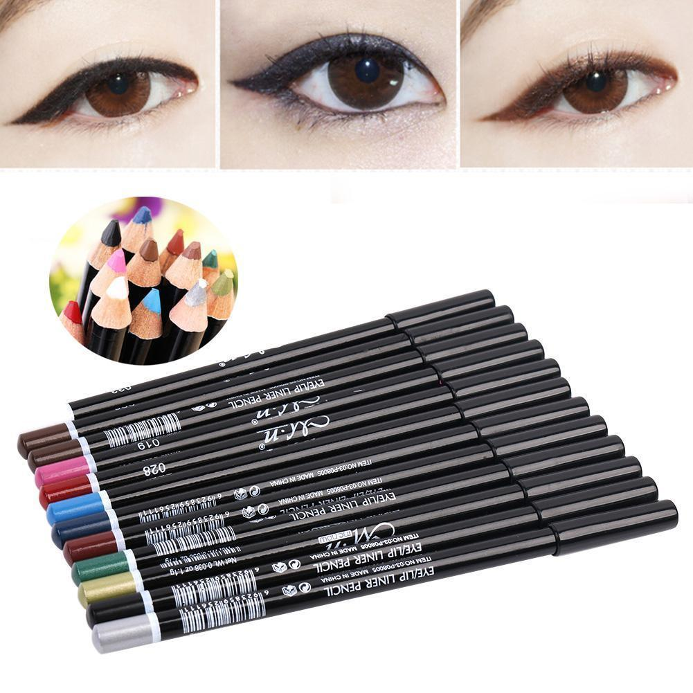 12 Colors Eyeliner Pencil Waterproof Eye Lip Liner Make up Set