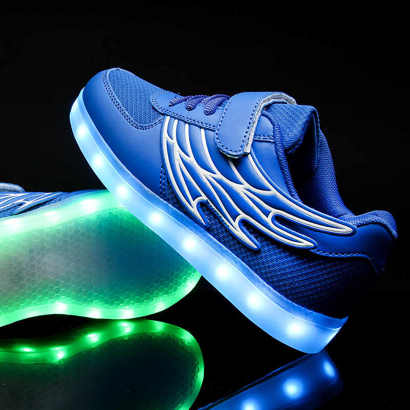 Wings of Light Shoes USB Shoes Children Shoes Winter Boys&Girls Charging Lamp Luminous LED with Light Shoes